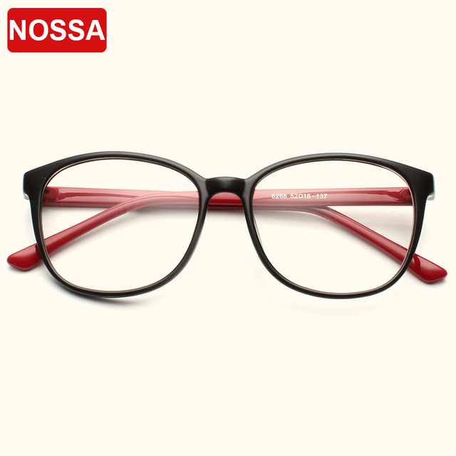 NOSSA Big Frame Round Eyeglasses Clear Lens Women And Men ...