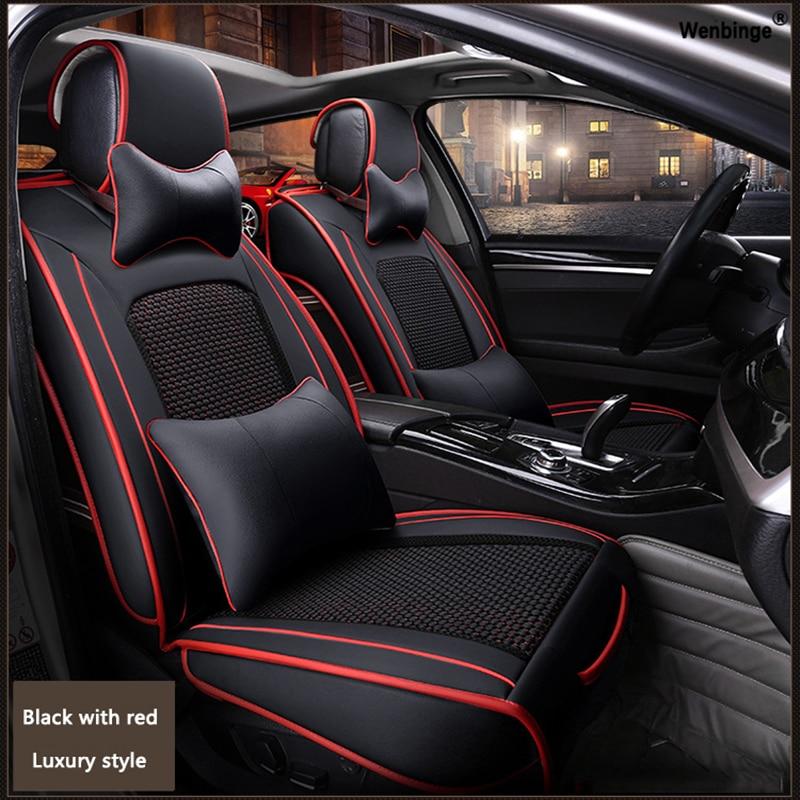 High quality Leather car seat cover for Suzuki Jimny Grand Vitara Kizashi Swift Alto SX4 Palette automobiles accessories styling