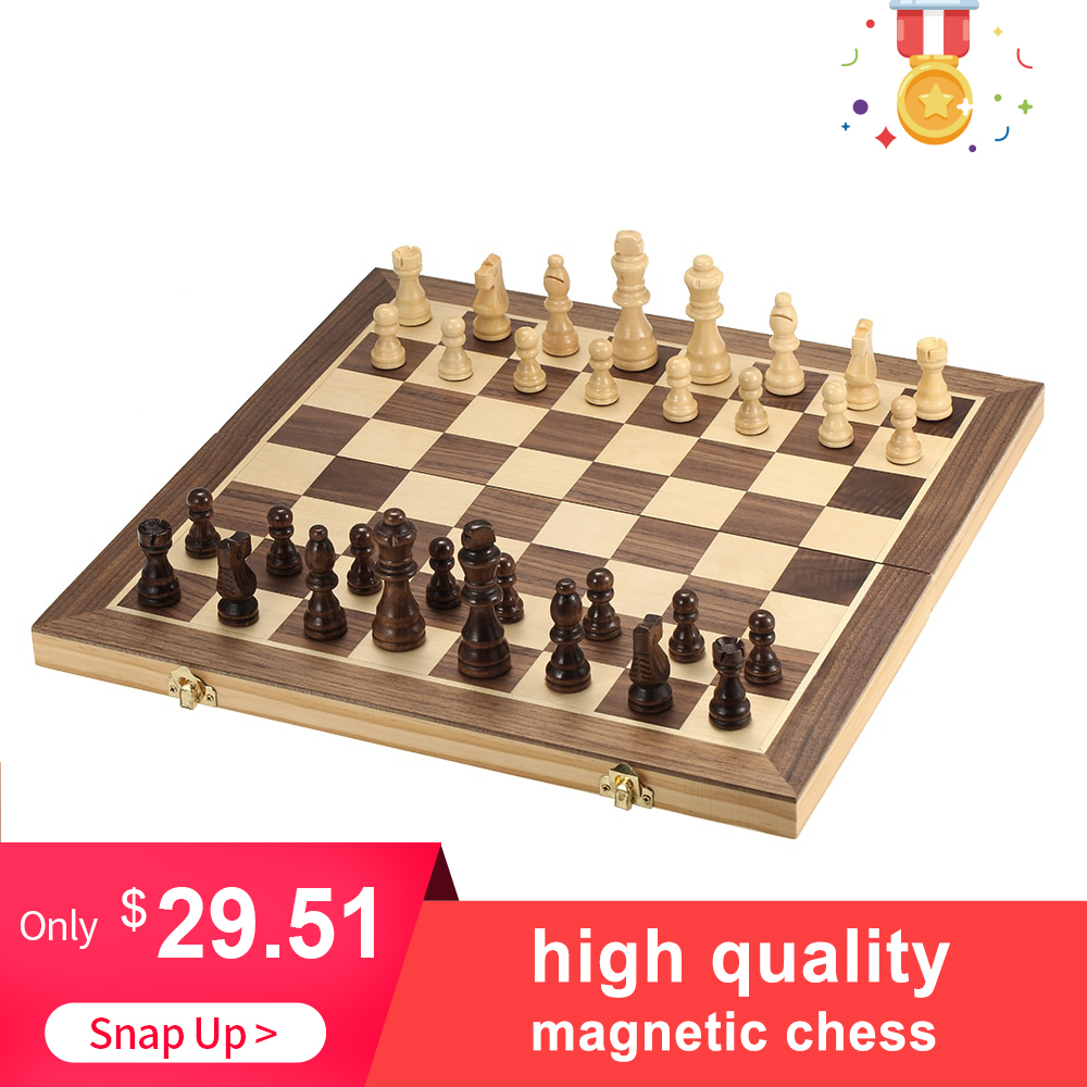 High quality New Foldable Wooden Chess Set Table Board Educational Chess Magnetic Chess Adults  International Entertainment GameHigh quality New Foldable Wooden Chess Set Table Board Educational Chess Magnetic Chess Adults  International Entertainment Game