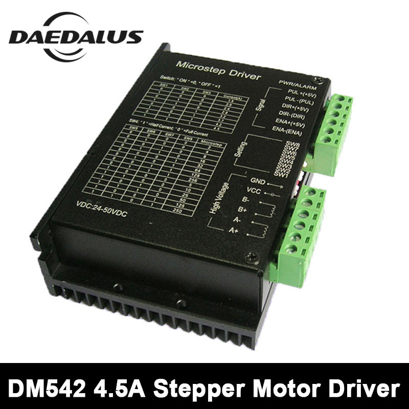 Name23 4.5A 24-50V Stepper Motor Driver 57/86 CNC Micro-Stepping Motor Driver Controller 2phase Stepping Driver For CNC Spindle 20 50vdc 256 subdivision cnc micro stepping name23 dm542 stepper motor driver 2phase 4 2a st dm542