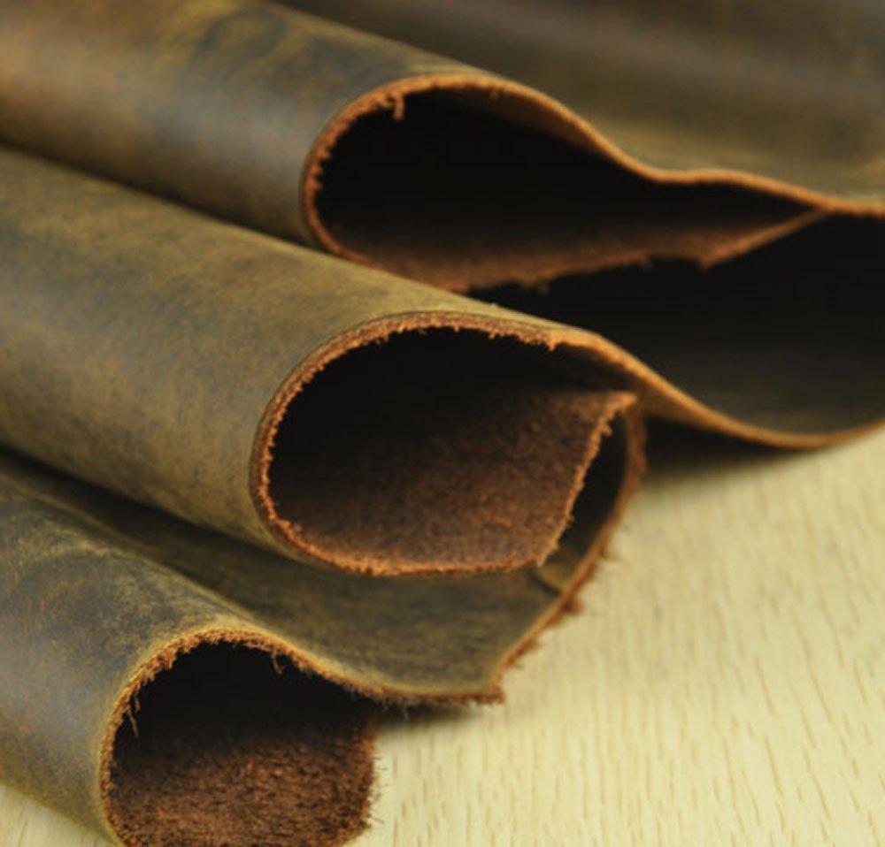 Peau de vache vache en cuir brun épais véritable en cuir sur 2.0mm peau de vache cru sur 100x22 cm