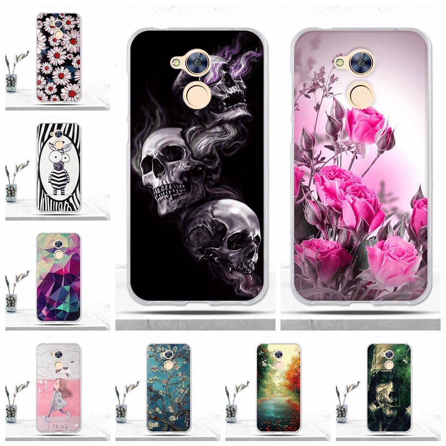 Galleria fotografica Phone Case Cover For Huawei Honor 6A Case Soft TPU Silicone 3D Relief Printing Cool Back Cover for Huawei Honor 6A Covers Fundas