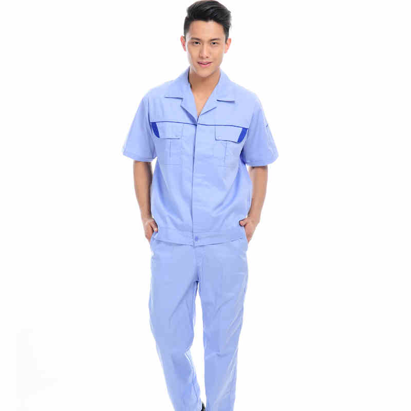 (10 Set-Shirt&Pant) Thin Workers Overalls Breathable Fabric Work Wear Welding Work Clothes Auto Repair Railway Uniforms