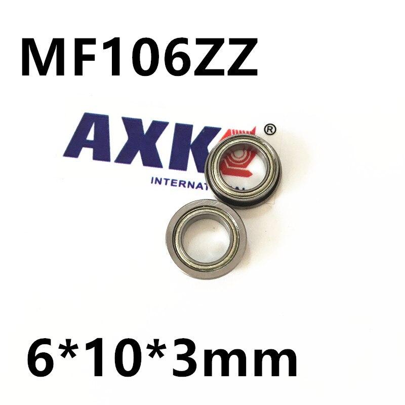 MF106ZZ Flange Bearing 6x10x3 mm Miniature Flanged MF106 Z ZZ Ball Bearings MF106ZZ F676ZZ LF1060ZZ 6*10*3 mm free shipping 20pcs mr83zz miniature bearings ball bearing 3x8x3 mm 3 8 3 mr83 zz radial shaft