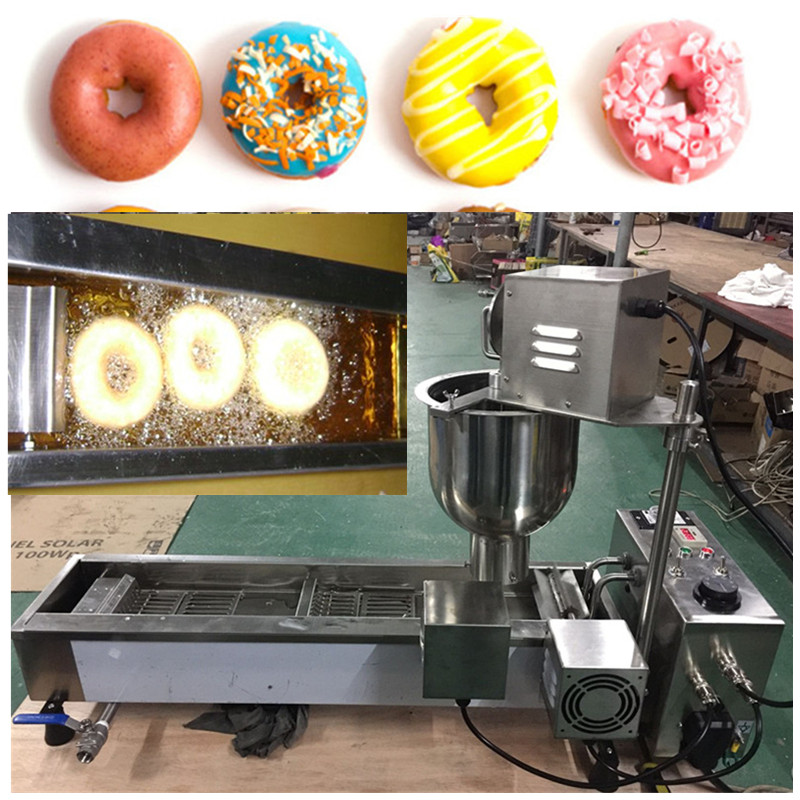 Stainless steel doughnut fryer mini donut making machine for sale цены