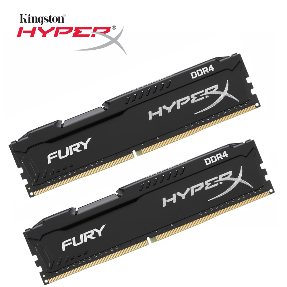 Kingston HyperX FURY Black Memoria Ram ddr4 8GB 2666MHz DDR4 CL16 HX426C16FB DIMM Desktop Memory Gaming Rams 1 pcs for Dota 2 image