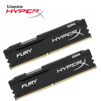 Kingston HyperX FURY Black Memoria Ram ddr4 8GB 2666MHz DDR4 CL16 HX426C16FB DIMM Desktop Memory Gaming Rams 1 pcs for Dota 2