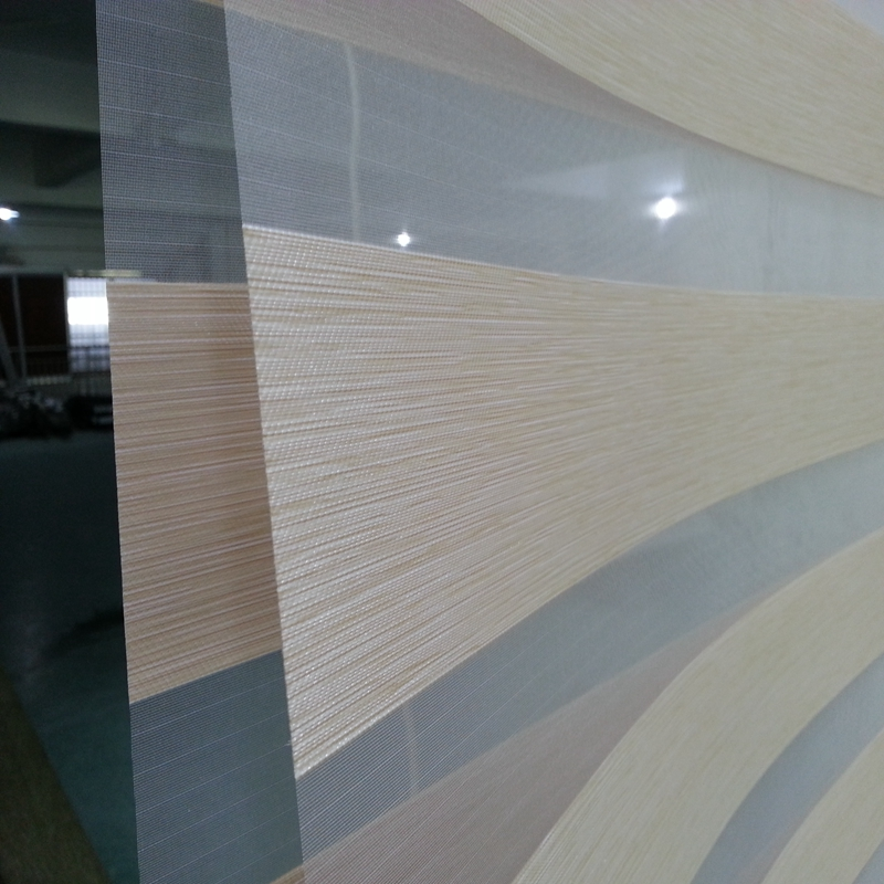Custom Size Shade 100 Polyester Translucent Roller Zebra Blinds in Gold Window Curtains for Living Room