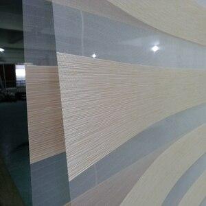 Индивидуальные размеры тенты 100% полиэстер полупрозрачные жалюзи Зебра в золотых окнах шторы для гостиной 7 видов цветов доступны