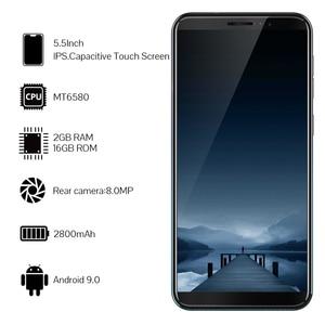 Image 4 - Cubot teléfono inteligente J5 3G, Pantalla Completa 18:9 de 5,5 pulgadas, procesador MT6580, Quad Core, Android 9,0, 2GB RAM, 16GB ROM, Tarjeta SIM Dual, batería de 2800mAh