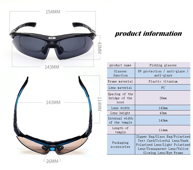 356f482828 Polarized Fishing Glasses Outdoor Brightening Lens Night Vision Blu ...