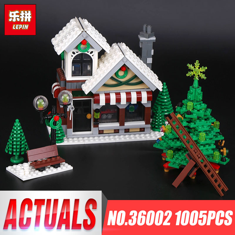 2017 New Lepin 36002 1005Pcs Creative Series The Winter Toy Shop Set 10249 Building Blocks Christmas Toys Child Brithday Gift