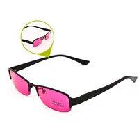 ZXTREE Цвет слепота очки коррекции Для женщин Для мужчин с плоскими стеклами и половинной рамкой очки красный зеленый цвет слепой карты Солнце