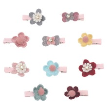 20/50pcs Hair Clips Wholesale Dog Accessories Floral Bowknot Bows with for Small Dogs Grooming Supplies