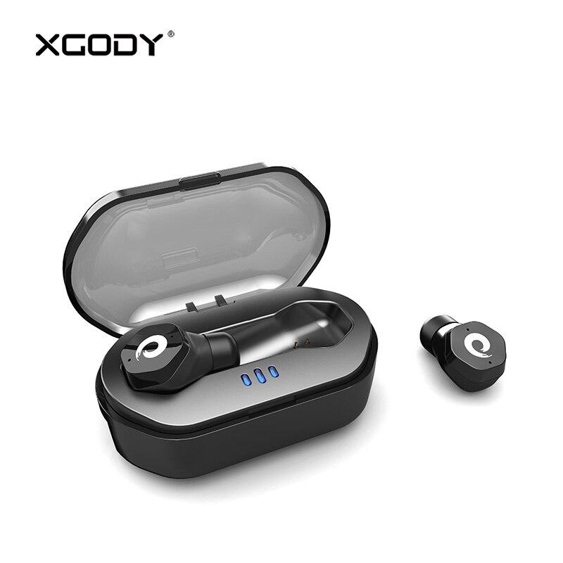 Bluetooth V5.0 Touch Control Étanche Sans Fil Écouteur avec Mic XGODY F8 Mains Libres Écouteurs Earpods Écouteurs pour Téléphone Casque