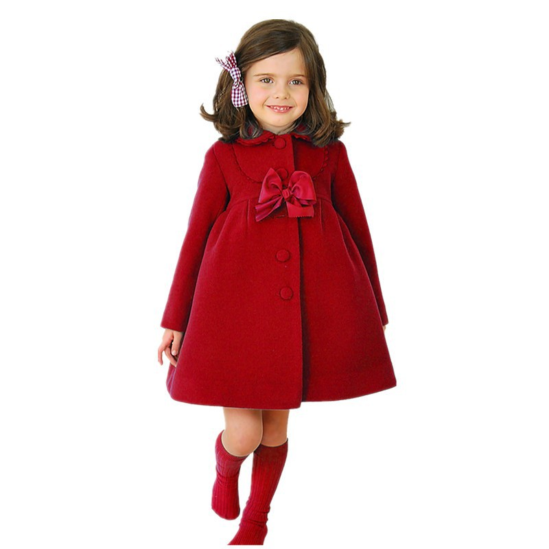 2017 neue Ankunft Herbst & Winter Baby Mädchen Mantel Bogen Spitze - Kinderkleidung - Foto 2