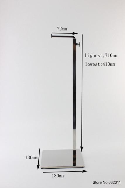 Saco titular bolsa gancho de Metal em aço inoxidável mostrando suporte ajustável loja exibição gancho rack de gancho do saco