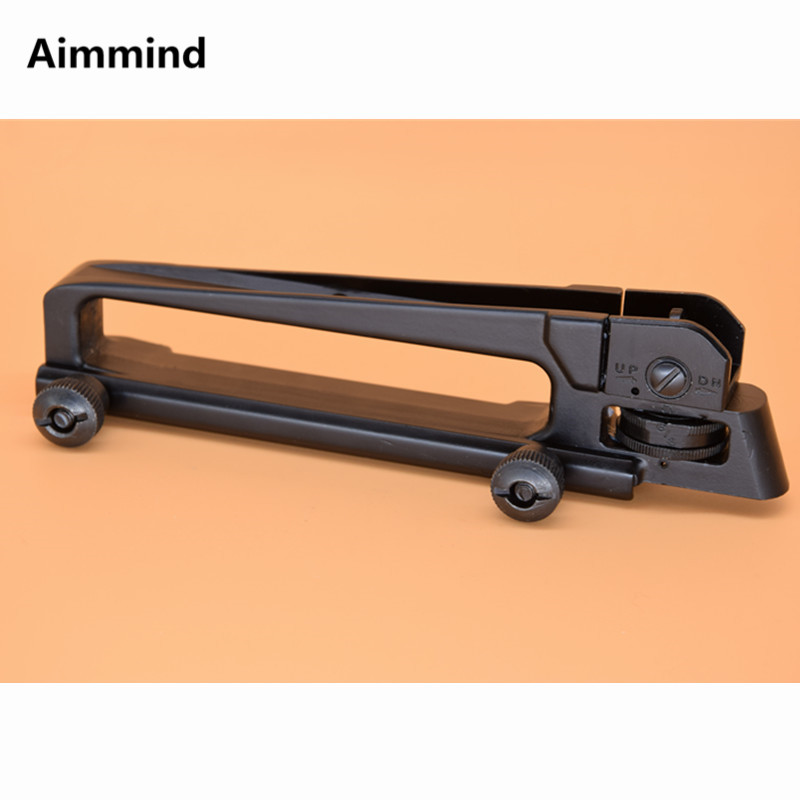 M4 M16 AR15 Detachable carry handle Fully Metal w/ Dual Aperture A2 Rear Sight Hunting Scope mount image
