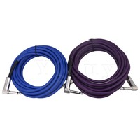 Yibuy 6 Meter Length Copper Cord Electric Guitar Instrument Patch Cable 1 4 Elbow To Elbow