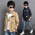 Boys Jacket Children's Clothing Big Kids Spring & Autumn Child Baby Outerwear Boy Trench Coat