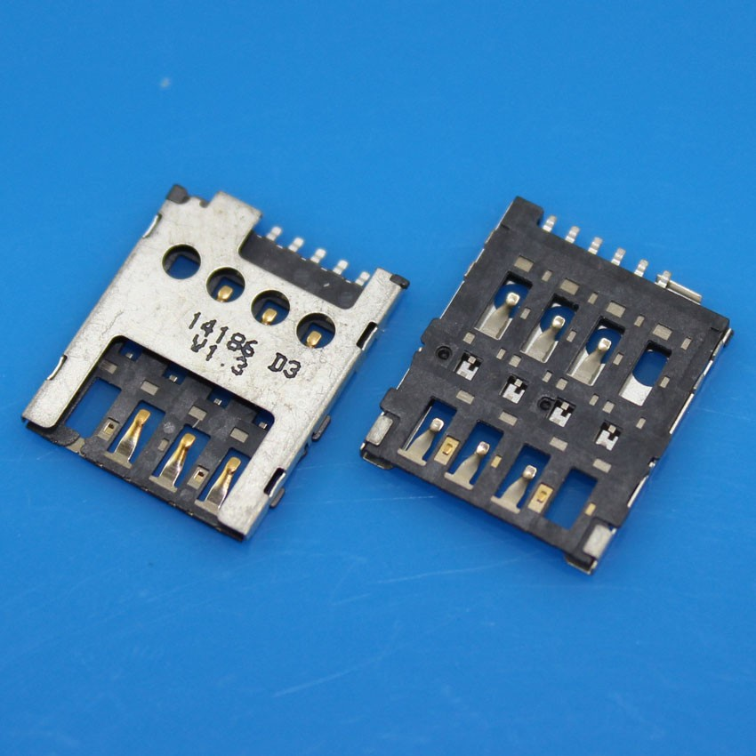 cltgxdd 10pcs New Sim Card Reader Tray Slot Socket Connector Holder For Nokia Lumia 630 635 636 530 Replacement