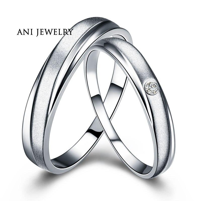 ANI 18K Rose Gold (AU750) Women Engagement Rings Natural Certified I J/SI 0.1 CT Round Cut Diamond Men Wedding Band Couple Ring