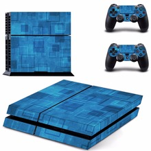 New blue fashion Decal Skin Sticker For Sony Playstation 4 PS4 Console +2Pcs Controller