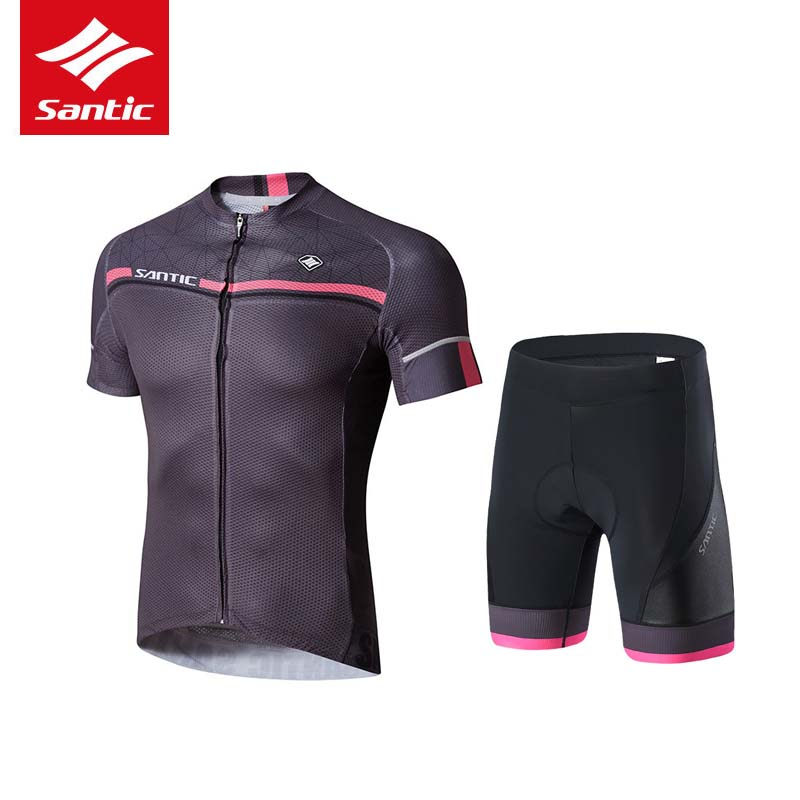 Santic Summer Cycling Jersey Sets Men 2017 New Pro Team Cycling Set Short Sleeve Road MTB Super Breathable Roupa De Ciclismo 2XL 2016 custom roupa ciclismo summer any color any size any design cycling jersey and diy bicycle wear polyester lycra cycling sets