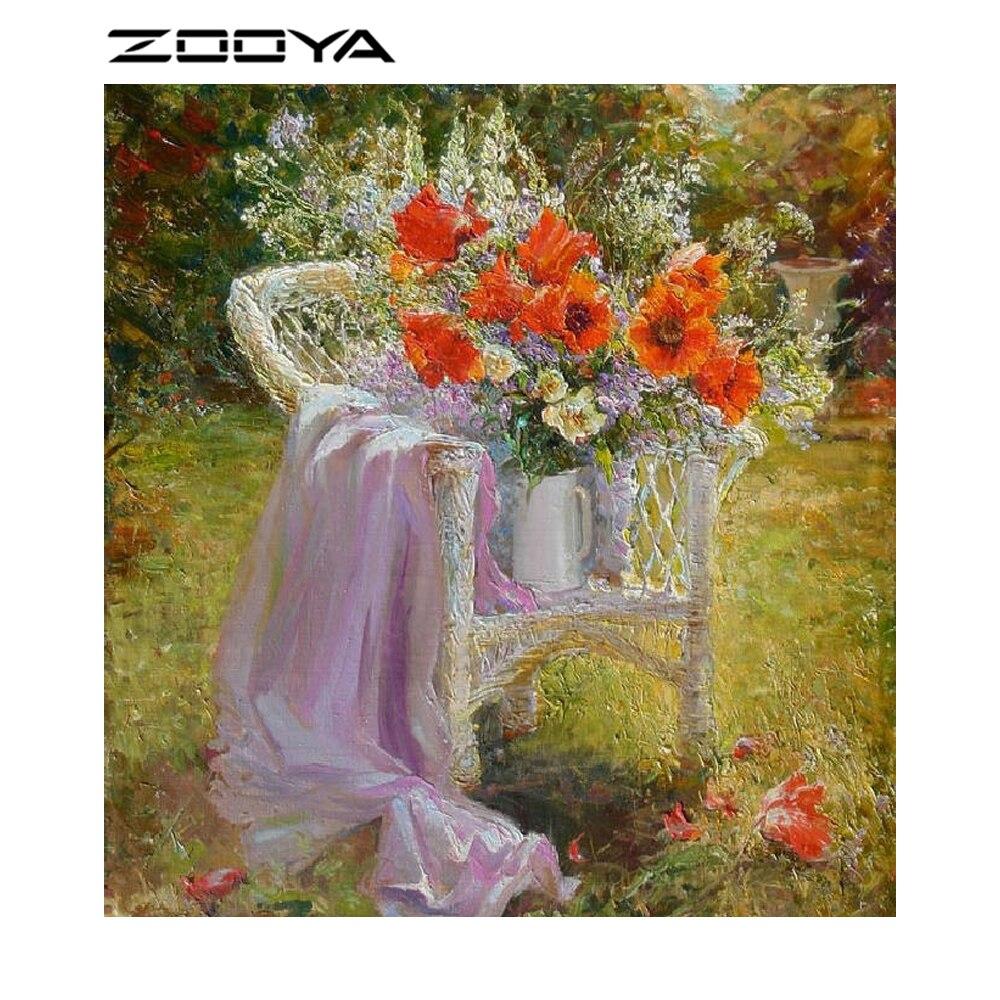 Zooya картина маслом цветка Цвет алмазов картина DIY мозаика живопись Стразы рукоделие DIY Наборы полный Алмазная мозаика BB612