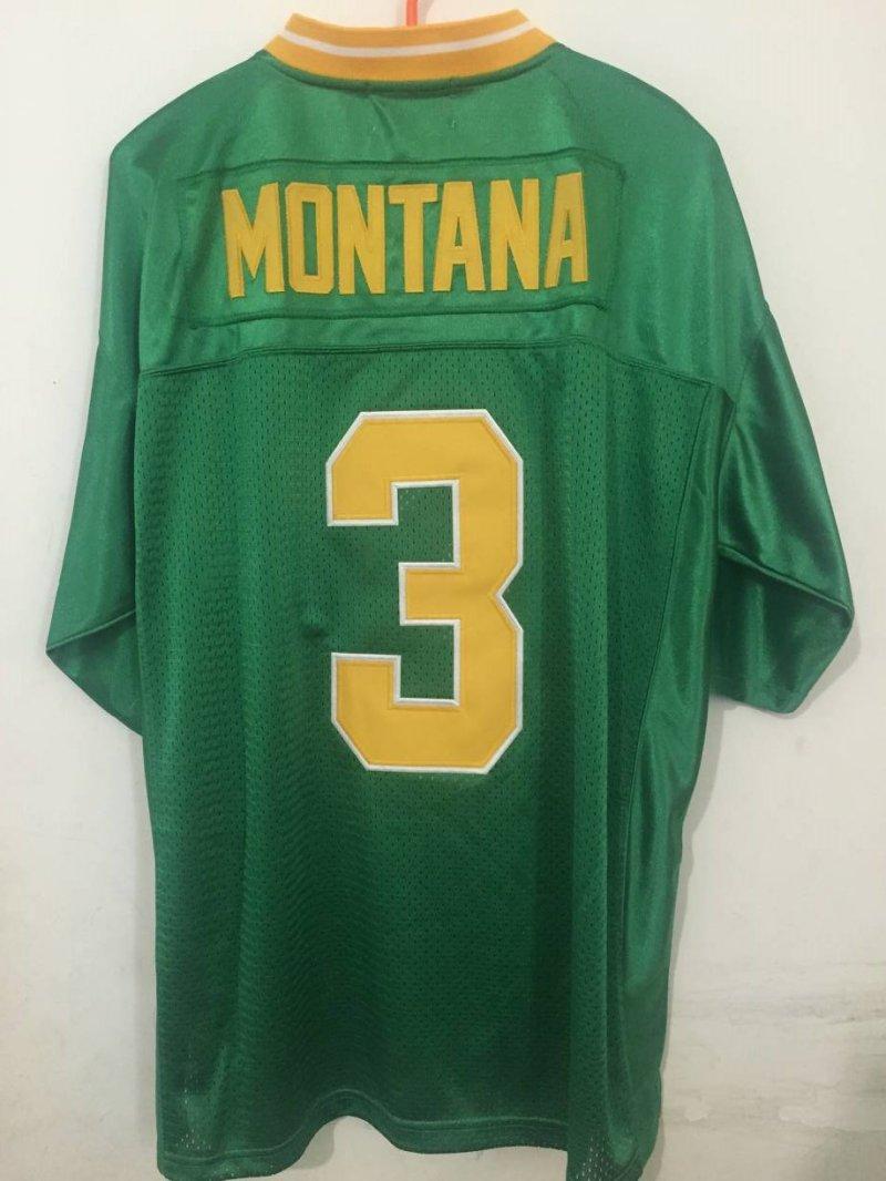 LOIEJIAOHUI 3 Joe Montana jerseys Cheap Throwback football jersey movie Norte Dame Fighting Irish Embroidery sewing