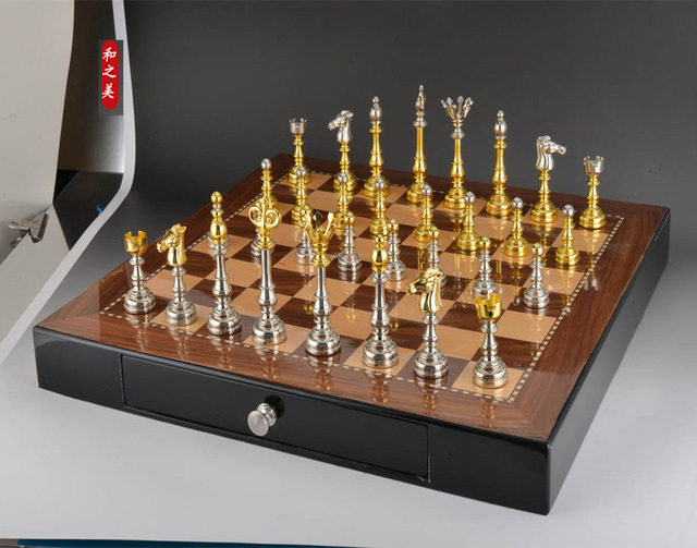 High Quality Chess Set With Non Folding Wooden Chessboard 50*50 CM Size High