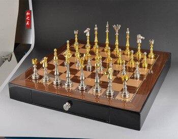 Juego de ajedrez de gran calidad con tablero de ajedrez de madera no plegable, tamaño 50*50 CM, decoración de muebles de gama alta, ajedrez, envío gratis