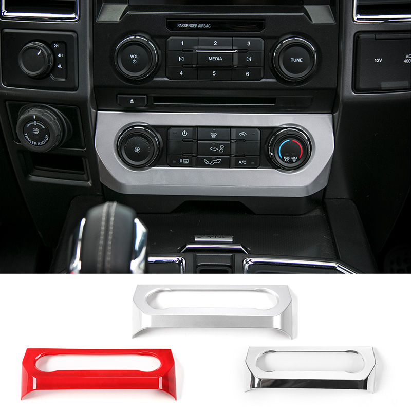 MOPAI Car Interior Central Console Air Conditioner Adjust Switch Decoration ABS Stickers For Ford F150 2015 Up Car Styling цена