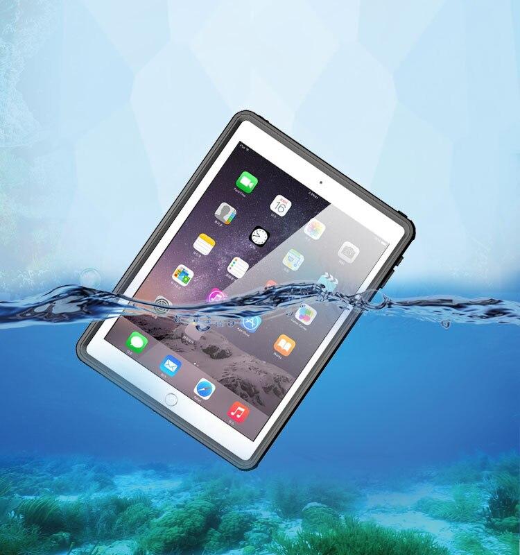 Nouveau étui pour iPad étanche Pro 9.7 mince Transparent IP68 étanche couverture antichoc pour iPad Air2 Air 2 plongée en plein Air