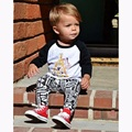 2016 Autumn girl clothes long sleeve cotton T-shirt + pants 2 pcs children suit baby boy clothing set children's clothing