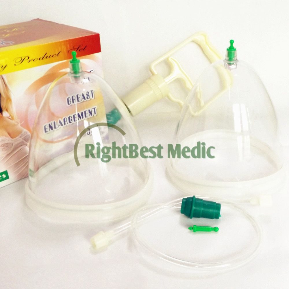 Yuexiao Breast Enlargement Cupping Set 2 cups with pump cupping therapy for female massage cupping set free shipping factory sale portable adult female vacuum breast enlargement breast nipple enhancer machine with 6 cups for home