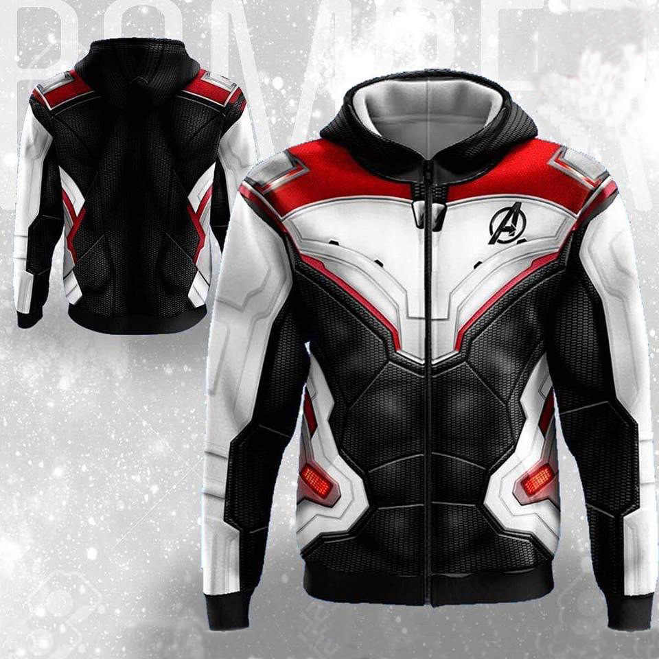 Avengers Endgame Quantum Realm sudadera chaqueta avanzada tecnología Sudadera con capucha Cosplay disfraces 2019 nuevo superhéroe Iron Man Hoodies suit