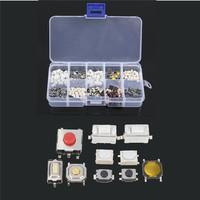 250Pcs 10 Types Tactile Push Button Touch Switch Remote Keys Button Microswitch Hot Sale