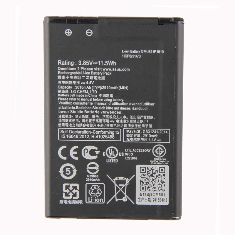 Orginal B11P1510 Go TV ZB551KL X013DB 3010mAh Da Bateria Para ASUS ZenFone 2018 novo