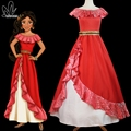 Elena elena de avalor princess dress mulheres adultas halloween fancy dress princesa elena cosplay custom made