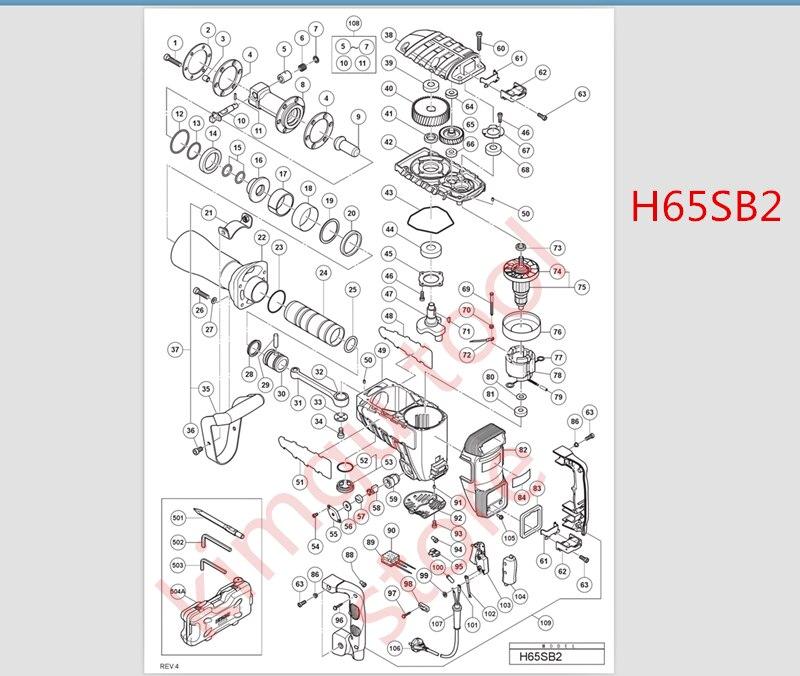 AC 220V-230V 9 teeth  Armatur Rotor Replace for Hitachi 360286E H65SB2 H65SD2 H65SD H70SD H70SA  Anchor engine motor