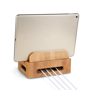 Image 5 - Bambu çok cihaz kabloları şarj istasyonu dock tutucu standı iPhone 8X7 6 ve tabletler İçin samsung Galaxy Dock