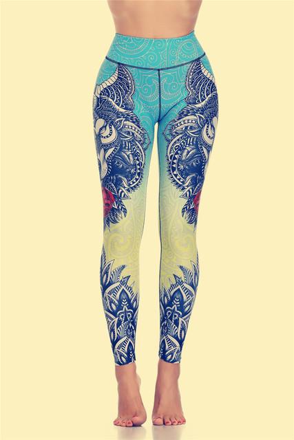Original Wolf Print Women Yoga Pants