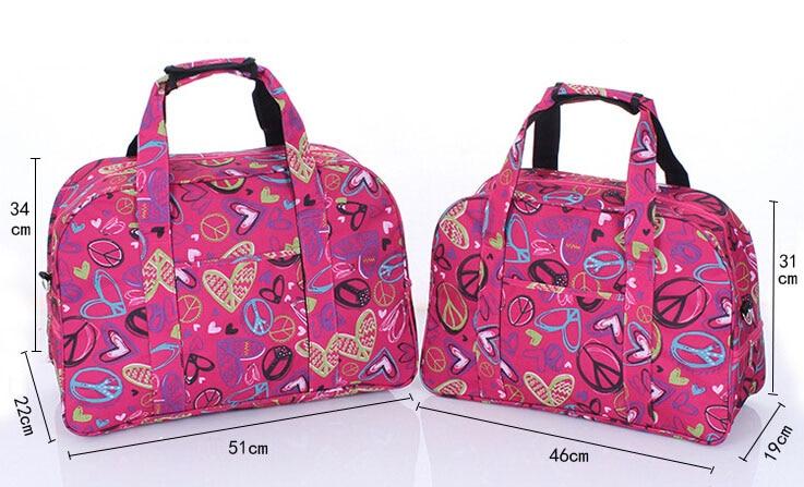 WEIJU Printing Travel Bag Women 2017 New Large Capacity Hand Luggage Duffle Bag Casual Traveling Shoulder Bags YR0353