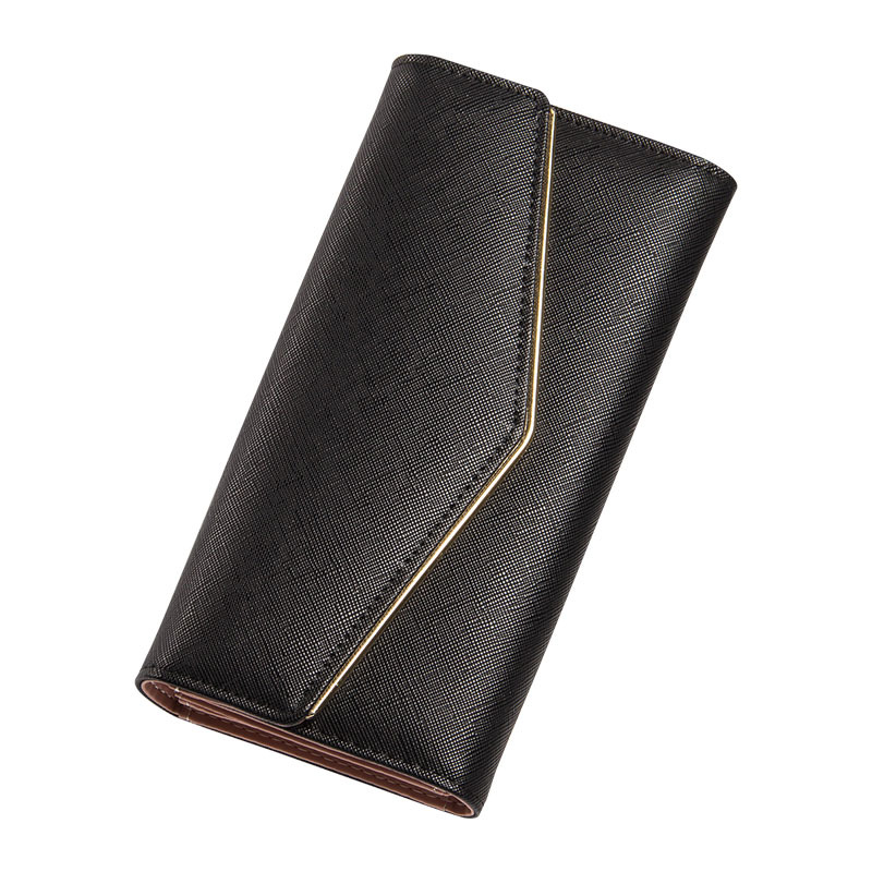 Girls Envelope /Women Wallet Hit Color 3 Fold cross pattern 8 Colors PU Leather Wallet Long Ladies Clutch Coin Purse Ms clutch