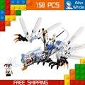 158 шт. Бела 9729 Ниндзя Ледяной Дракон Атаки Строительные Блоки Модель Игрушки Доспехи Кирпичи совместимы С Lego