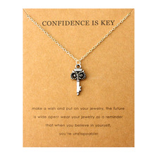 купить Confidence is Key Owls Pendant Necklaces Star Moon Mountain Heart Infinity Paw Birds Necklace Women Jewelry Best Friends Gift по цене 76.2 рублей