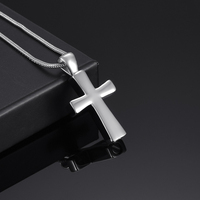 IJD9876 Newest Memorial Urn Jewelry Hot Selling Blank Silver Gold 316L Stainless Steel Cross Cremation Ashes