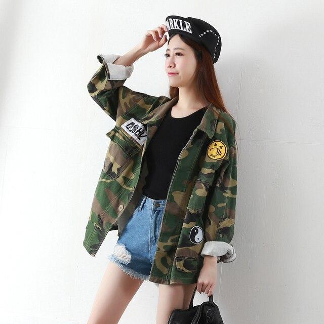 camouflage veste militaire femmes veste militaire femme large taille femmes vestes et manteaux. Black Bedroom Furniture Sets. Home Design Ideas
