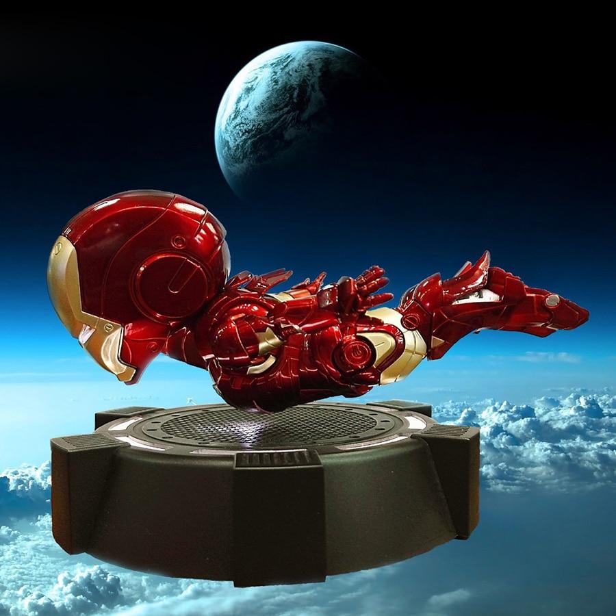 Novo Homem De Ferro Homem De Ferro MK3 Levitação Magnética Flutuante Collectible Action Figure Modelo Brinquedos Com Luzes LED Presentes Para As Crianças meninos